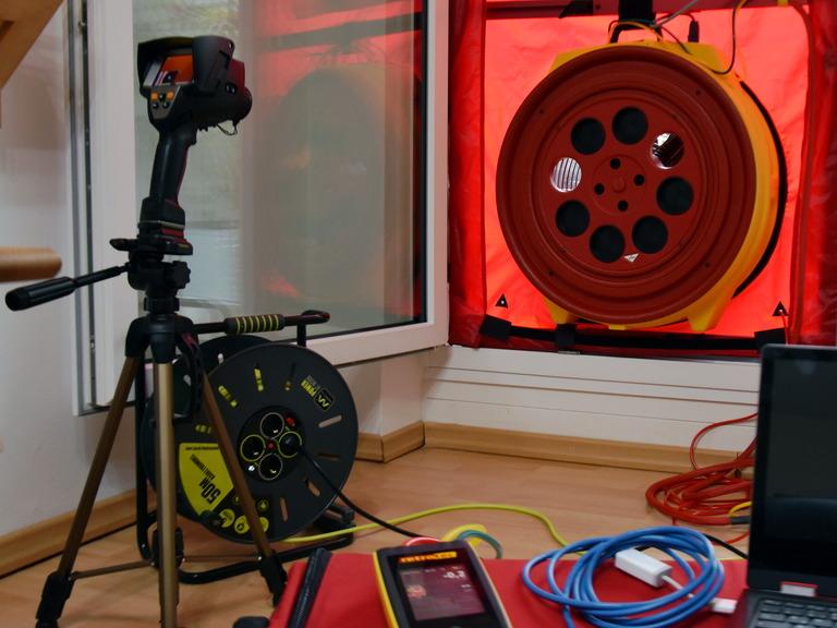 Eingebautes Gebläse mit Thermografiekamera